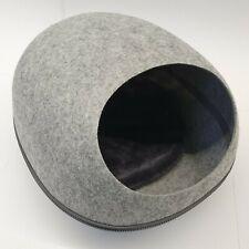 Filzhöhle/Katzenhöhle/Tierbett oval, ca. 40 x 36 x 30 cm, grau