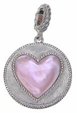 Judith Ripka White and Pink Mother of Pearl Reversible Sterling Silver Enhancer