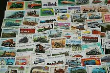 BULK LOT TRAINS STAMPS X 50  GOOD MIX FREE POSTAGE IN OZ