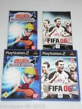 PLAYSTATION 2 /PS2 SPIELE NARUTO SEI DER HELD LEBE DAS ABENTEUER & FIFA FUSSBALL