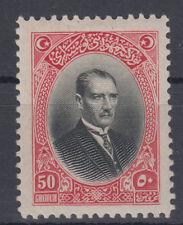 Turkey Mustafa Kemal Pasha Ataturk 50GHR Mi#854 1926 MH *