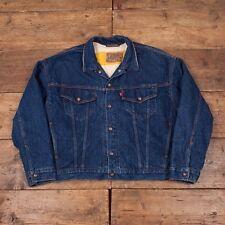 "Mens 1990's Levis Vintage Reversible Lined Blue Denim Jacket Size L 46"" R3676"