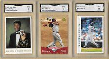 Ken Griffey Jr. Lot of 3 Cards GRADED GMA 9 Mint