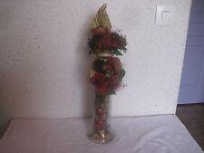 Vase de 35 cm avec fleurs séchées