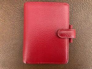 Red Mini Finsbury Filofax Planner - Great Condition Rare Colour