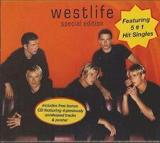 WESTLIFE - WESTLIFE  + BONUS PROMO DISC 2000 UK 2XCD CARDBOARD SLIPCASE + POSTER