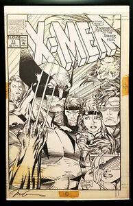 X-Men #11 by Jim Lee 11x17 FRAMED Original Art Poster Marvel Comics