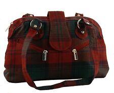 Lindsay Modern Tartan Handbag 100% Wool 60% off RRP (Style 446)