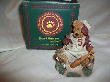 Homer on the Plate Baseball Sports Resin Boyds Bears & Friends Figurine Nib