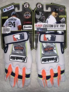 NEW MIGUEL CABRERA FRANKLIN MVP BATTING GLOVES YOUTH LARGE SIZE.