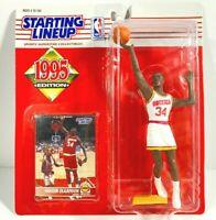1995 HAKEEM OLAJUWON #34 Houston Rockets NM Starting Lineup HOF