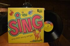 Disney Sing and other Sunny Songs LP Disneyland 1360 Mono