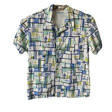 Columbia Mens M Performance Fishing Gear PFG Shirt Vented Back Fish Print