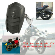 1PC Motorcycle Rear Wheel Fender Cover Splash Guard Mudguard w/Mounting Bracket