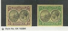 Dominica, Postage Stamp, #80, 82 Mint LH, 1923, JFZ