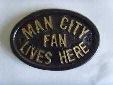 MANCHESTER CITY  CHAMPIONS BLUES FAN FOOTBALL PLAQUE SIGN