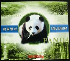 2002 panda 1oz silver coin S10Y with gift box