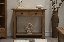 Brooklyn solid oak furniture hallway console table