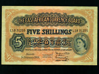 East Africa:P-33,5 Shillings,1956* Queen Elizabeth II *