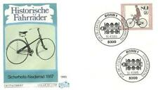 Germany 1985 FDC 1244 Rower Bicycles Bike Fahrrad Vélo Bicicletta