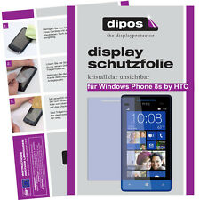 1x Windows Phone 8s by HTC protectoras TRANSPARENTES para protector de pantalla Lámina invisible