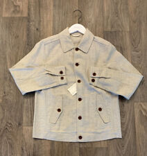 New Mens GANT Linen Coach Jacket, Size M, Dry Sand