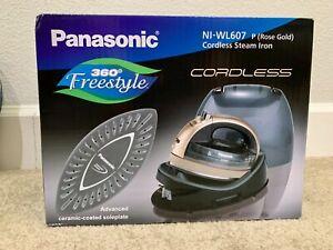 Panasonic NI-WL607A 360º Advanced Ceramic Plate Cordless Steam Iron Rose Gold