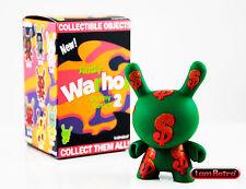 "Green $ -  Andy Warhol Dunny Series 2 - Kidrobot 3"" Vinyl Fig Brand New"