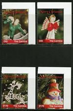 GAMBIA 2016 CHRISTMAS ORNAMENTS SET OF FOUR MINT NH