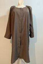 NWD ZARA Dress with a round neckline and long sleeves BROWN Size L  #2715 1971