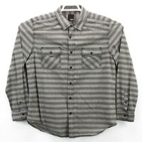 BAR III men's button up shirt long sleeve gray striped easy care size XL EUC