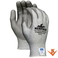 1 pr Memphis 9676 UltraTech Dyneema Cut Resistant Coated Gloves - Size: L - XL