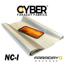 """CYBER Faraday Fabric EMF RF RFID Shielding Nickel Copper - 50"""" x 1' Roll"""