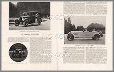 1927 DOCUMENT : AUTO CHENARD WALCKER TORPéDO 17cv DELAGE MISTINGUETT  2pages