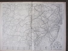 1922 LARGE MAP ~ AUTO TRAILS PHILADELPHIA PENNSYLVANIA DELAWARE ~ RAND MCNALLY