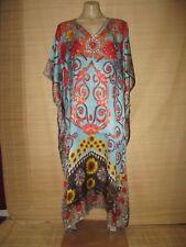 Embellished Digital Print KAFTAN beach HIPPY boho DRESS One size (14-24 best) #4