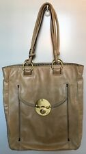 MIMCO Turnlock Laptop Shopper Bag - Taupe Leather