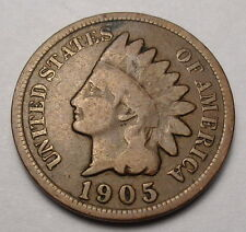 1905 Indian Head Penny Good+ One Cent Coin