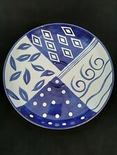 BLUE BAYOU Large Blue & White Serving Platter Hand Painted