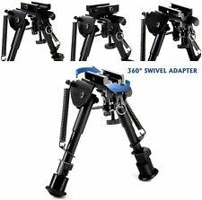 "New listing 6"" to 9"" Compact Spring Return Sniper Hunting Rifle Bipod + Picatinny Rail Mount"