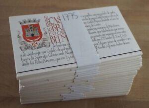 1986 Portugal; 100 Markenheftchen Burgen &.. (III), **/MNH, MiNr. 1699, ME 500,-