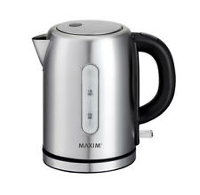 Maxim Kitchen Pro 1 Litre Small Brush Stainless Steel Cordless Kettle MKPK1S  93