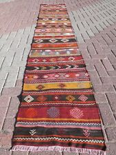 "Anatolian Turkish Antalya Kilim Runner 24,4""X133,4""  Area Rug Runner Carpet Wool"