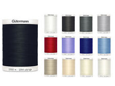 Gutermann Sew All Thread 1000m Reel - Sewing - All 13 Colours Available