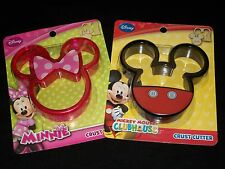 Disney Mickey Minnie Mouse Bread Crust Cutter Set Cookie Sandwich
