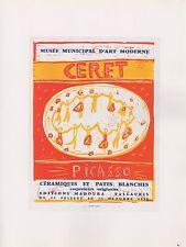 """1989 VINTAGE  """"PICASSO MUSEE D'ART CERET"""" DANCERS Color offset Lithograph"""