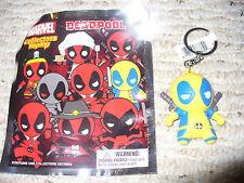 NEW! Marvel Deadpool Collectors Keyring, Opened Blind Bag, Deadpool Yellow