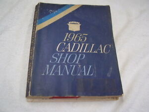 1965 CADILLAC  ORIGINAL  SHOP MANUAL