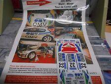 DECAL Decalsatz für Umbau Rallye Peugeot 206 WRC Stohl OMV 2003 Miniature 1:43