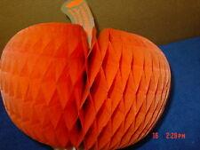 Vintage,Halloween,Honeycomb,Decoration,Pumpkin,Tissue,made in USA decoration